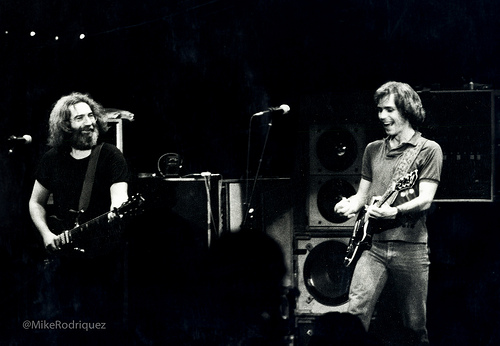 Jerry Garcia and Bob Weir